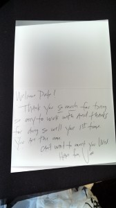 Thank you note for testamonials